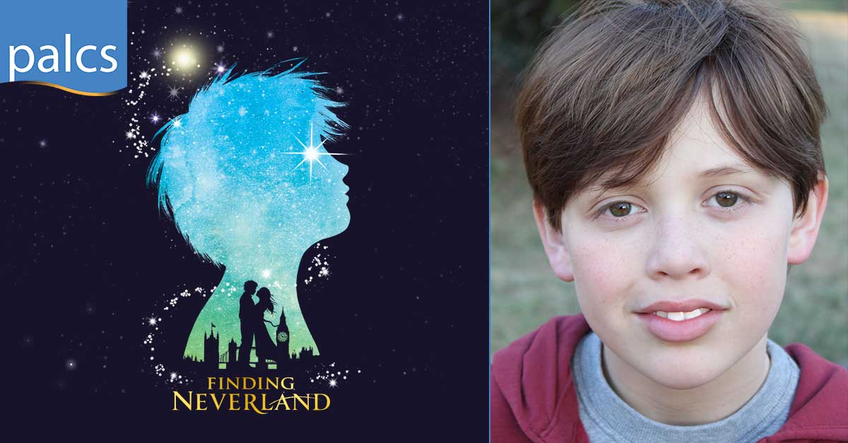Finding Neverland broadway logo, Dylan Boyd