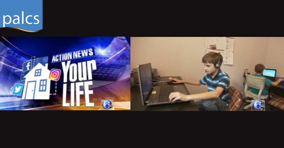 Lackeys Family, Action News, Your Life, two students working back to back