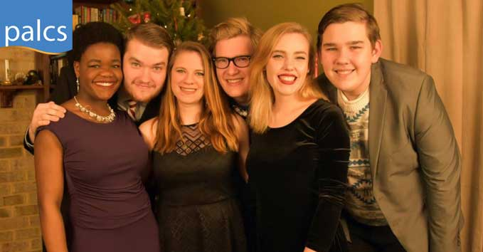 Byler Family, 6 siblings smiling