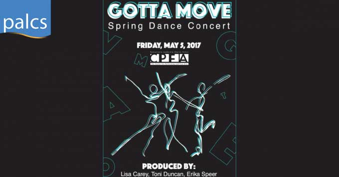 CPFA Spring Dance Concert, Gotta Move, Friday May 5th, 2017