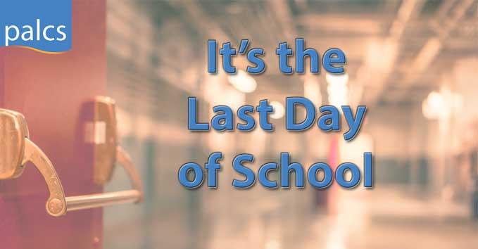Last day of School, empty hallways