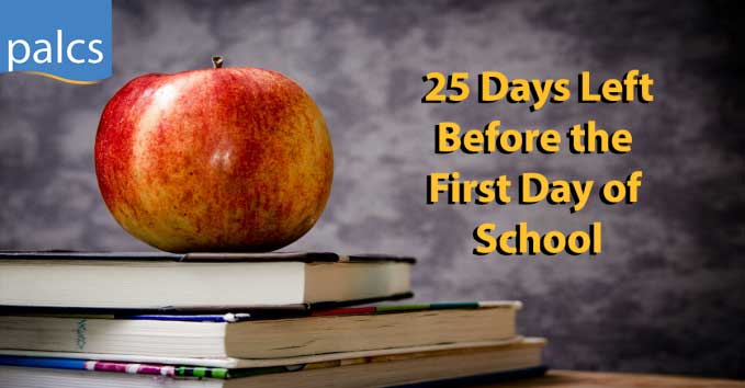 25 days left before the first day of school
