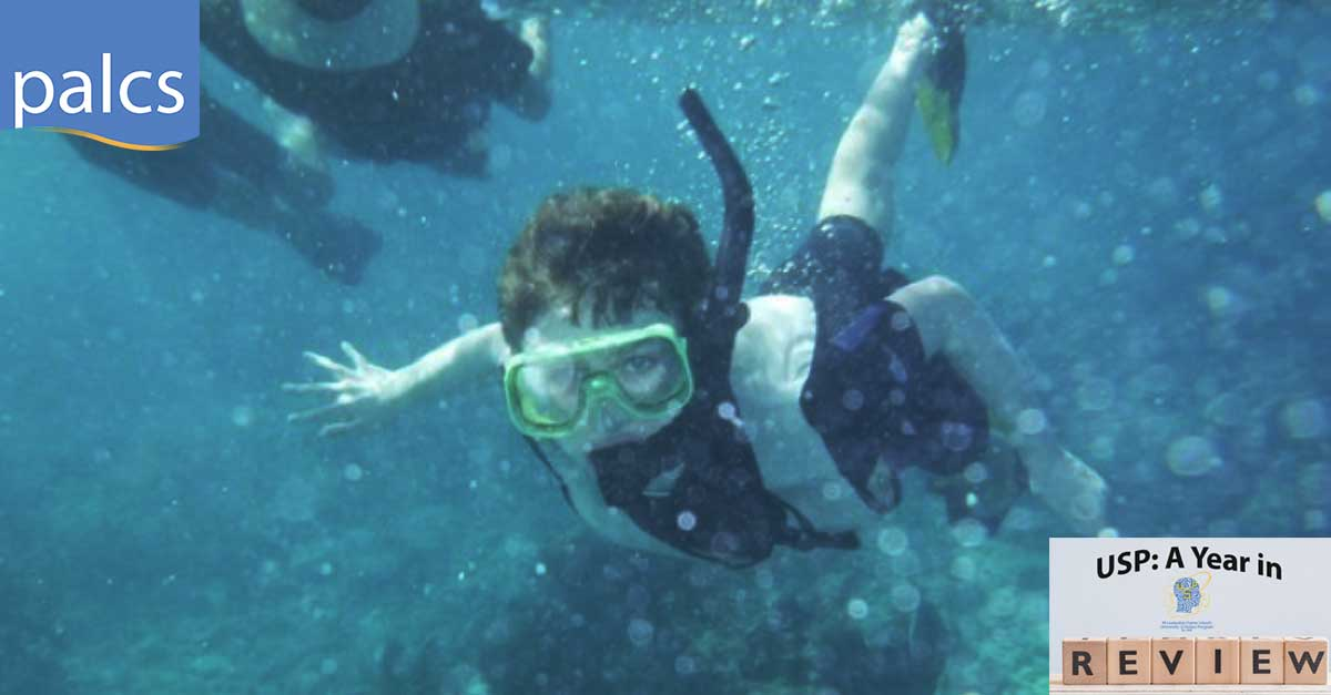 student snorkeling on the key largo trip
