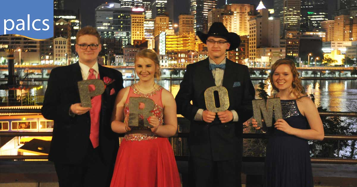 students at the palcs prom west 2017