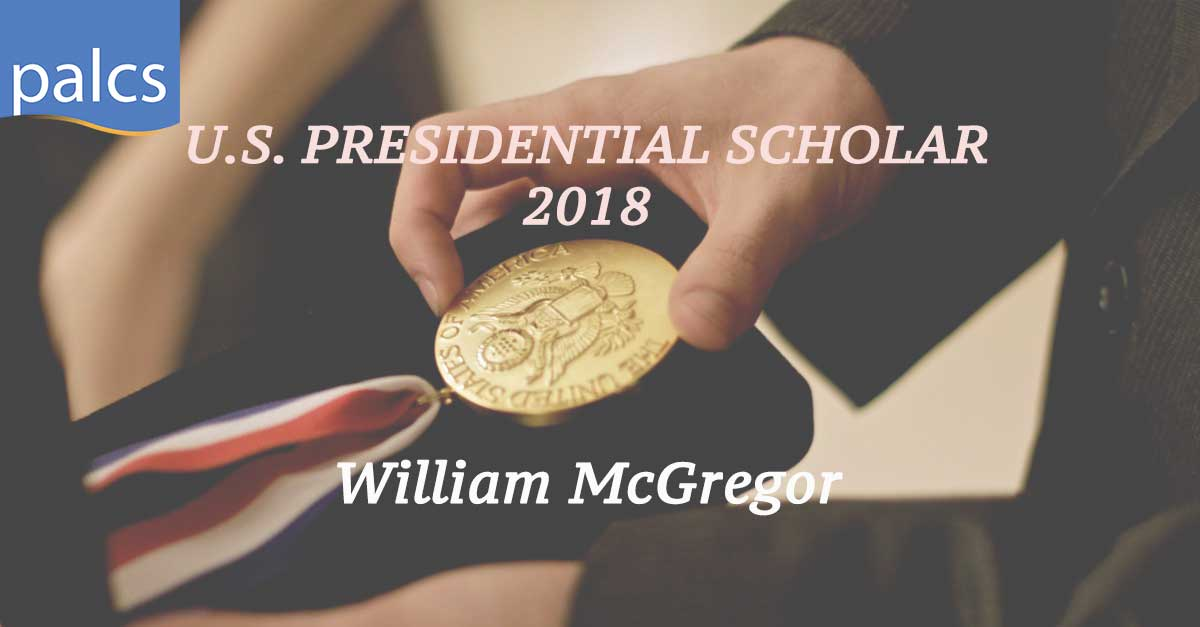 US Presidential Scholar 2018 William McGregor