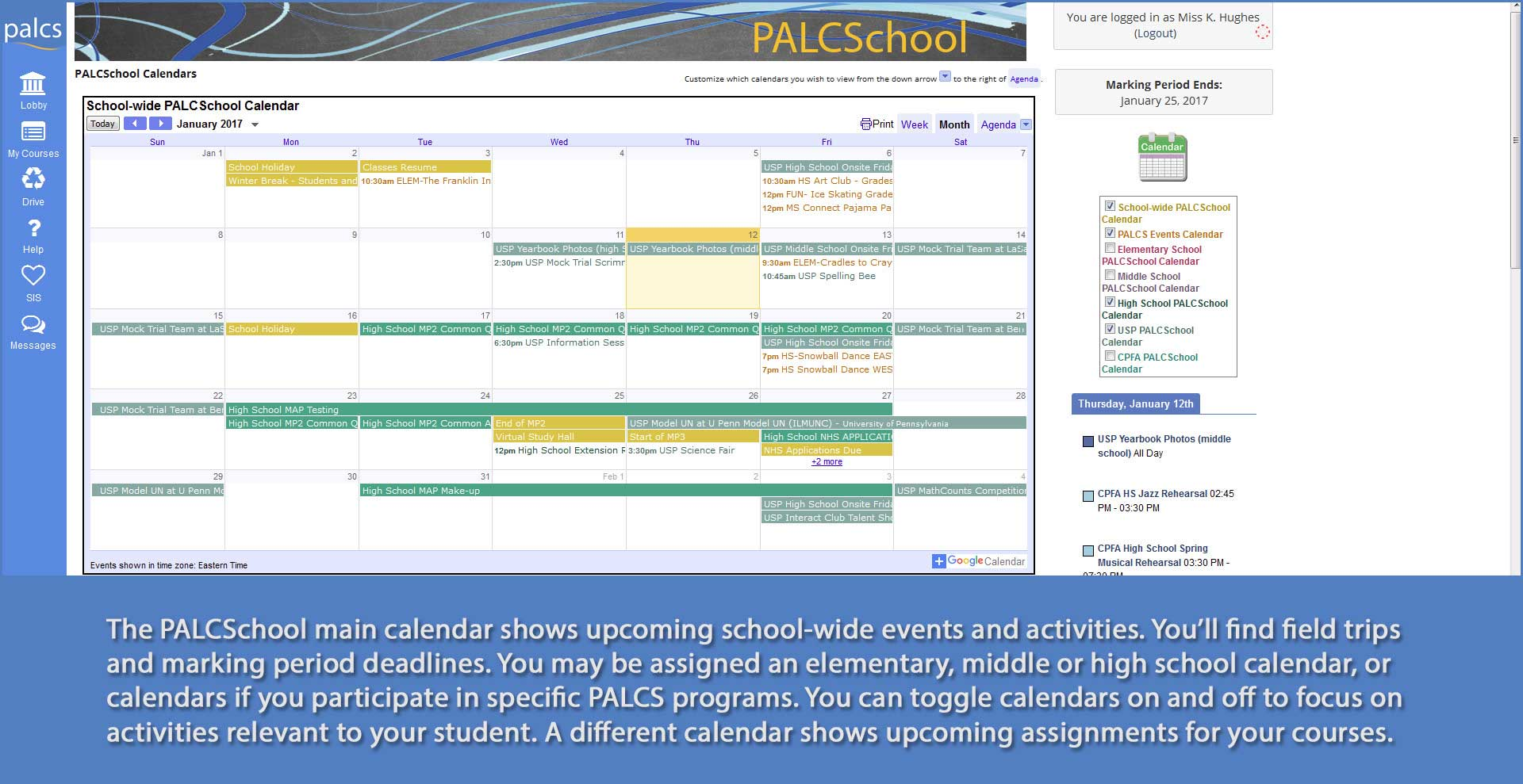 PALCS Demo - Succeed on Your Schedule