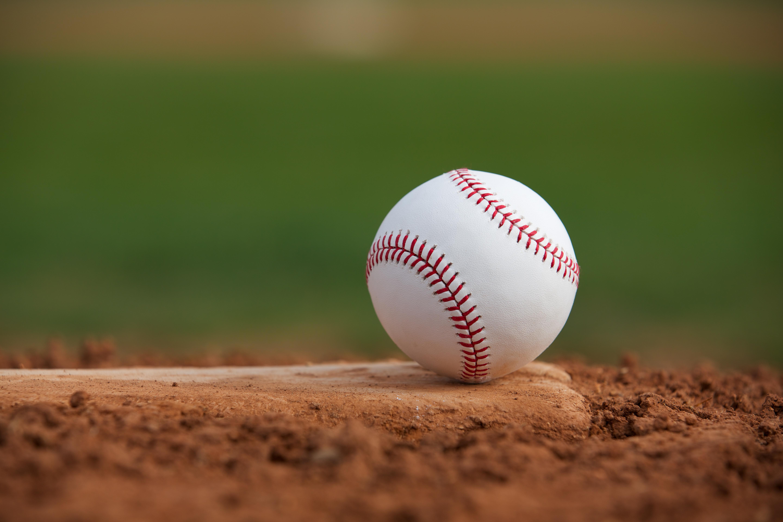 baseball on sand mound